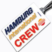 HAMBURG INTERNATIONAL logo Crew Tag